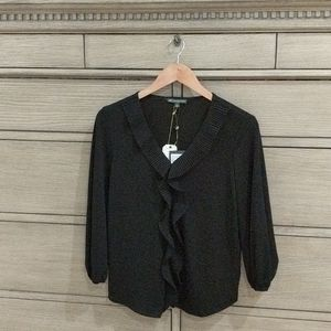 Adrianna Papell Black Blouse Size  Small